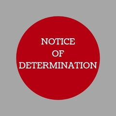Notice of Determination